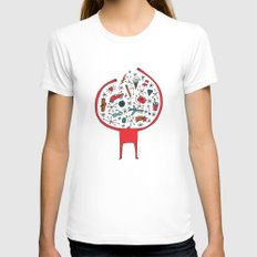 holding it all together Womens Fitted Tee White MEDIUM