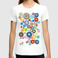 contemporary T-shirts featuring Contemporary Circles by Ruth Fitta Schulz