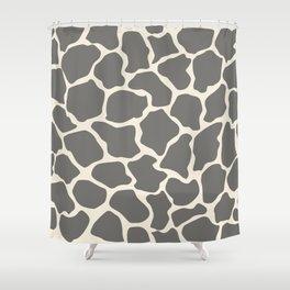 Safari Giraffe Print - Grey & Beige Shower Curtain