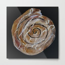 Cinnamon Swirl Bakery Still Life Acrylic Painting Metal Print