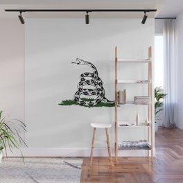 Gadsden Flag Snake Ready to Strike Wall Mural