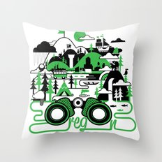 O is for Oregon Throw Pillow