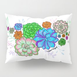 Saturated Succulents Pillow Sham