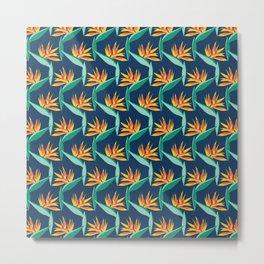 Bird of Paradise Blue Metal Print