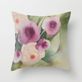 Floral Essence Throw Pillow