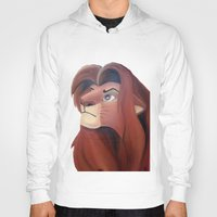 simba Hoodies featuring Simba by Jgarciat