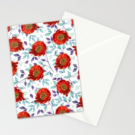 Crimson Red Stationery Cards