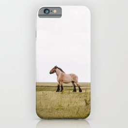 Belgian draft horse at Noordpolderzijl, Groningen, the Netherlands | Colorful Travel Photography iPhone Case