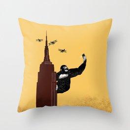 King Kong Love Selfie Throw Pillow