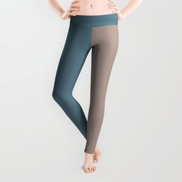 4 Bold Wide Lines Behr Blueprint Blue, Brown Velvet, Coffee with Cream, and Cameo Stone Leggings