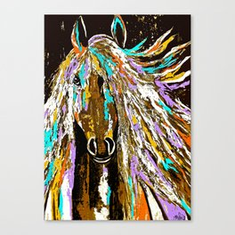 Horse Abstract Oil Painting Canvas Print