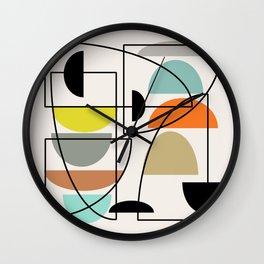 "Mid Century Modern ""Bowls"" Wall Clock"