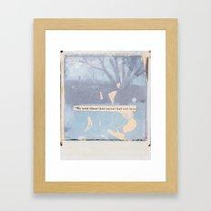 a dark crime Framed Art Print
