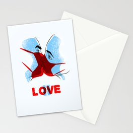 Love is paused. Poster. Stationery Cards