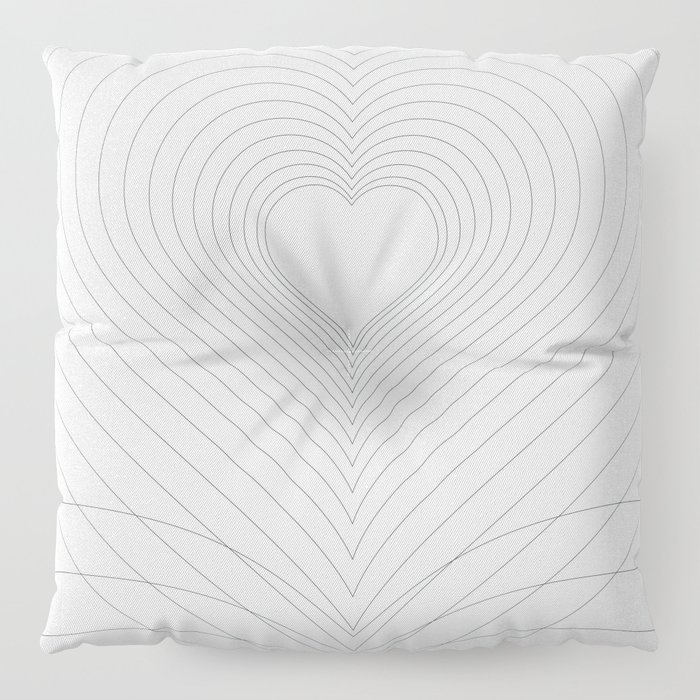 Love Heart Pattern #society6 #love #buyart Floor Pillow
