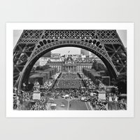 eiffel tower Art Prints featuring eiffel tower by AnnaGo