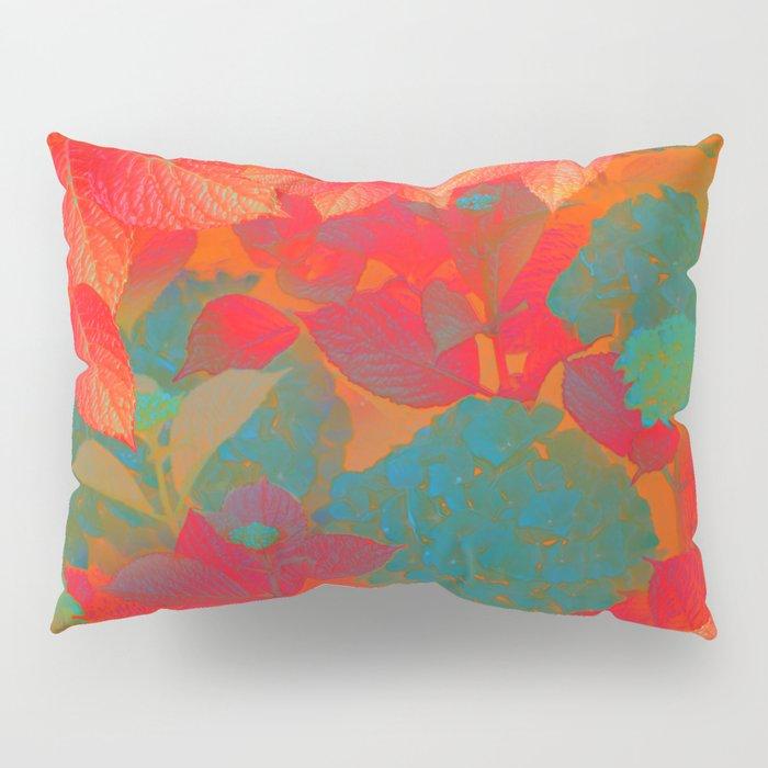 """Intense Pastel Hydrangeas-Passion"" Pillow Sham"