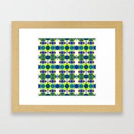 Retro Circle Diamonds Framed Art Print