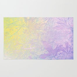 Golden Fall Watercolor Leaf Impressions Rug