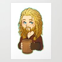 fili Art Prints featuring Fili by angryorangecat
