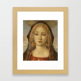 "Sandro Botticelli ""The Virgin and Child with Saint John and an Angel"" The Virgin Framed Art Print"
