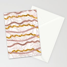 Glitter Lines Stationery Cards