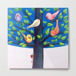 Birdy Tree Metal Print