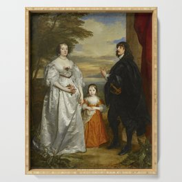 "Sir Anthony van Dyck ""James, Seventh Earl of Derby, His Lady and Child"" Serving Tray"
