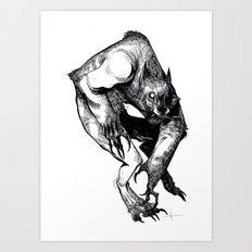 The Werewolf Art Print