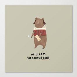 William Shakesbear Canvas Print
