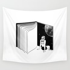 Reading is Dreaming with Your Eyes Open Wall Tapestry