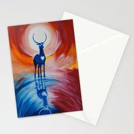 deer sun Stationery Cards