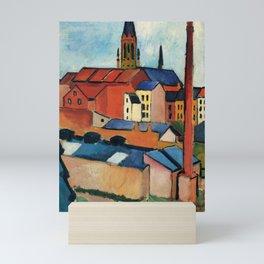 "August Macke ""St. Mary's with Houses and Chimney (Bonn)"" Mini Art Print"