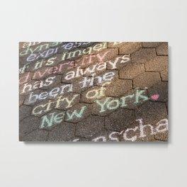 Central Park Street Art, New York City Metal Print