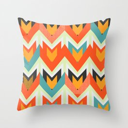 Shapes of joy Throw Pillow