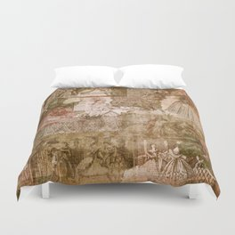 Vintage & Shabby Chic - Victorian ladies pattern Duvet Cover