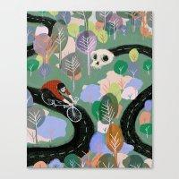 monty python Canvas Prints featuring Monty by Victoria Borges