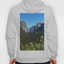 Bridal Veil Falls From Tunnel View Point - Yosemite Valley Hoody