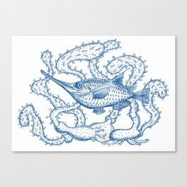 Joli poisson bleu Canvas Print