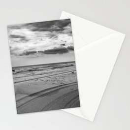 Driving on Assateague Island (Black and White) Stationery Cards