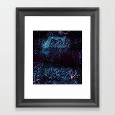 blue space geometry Framed Art Print