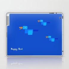 Happy Bird-Blue Laptop & iPad Skin
