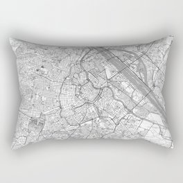Vienna Map Line Rectangular Pillow