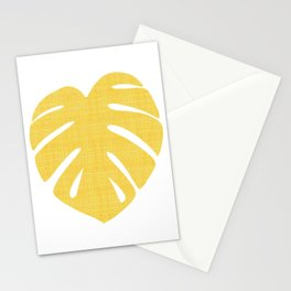 Tropical Leaf in Red and Yellow Stationery Cards