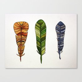Feather Trio Canvas Print
