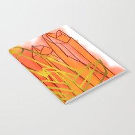 Crystals - Orange Notebook