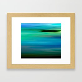 Seascape - blurography Framed Art Print