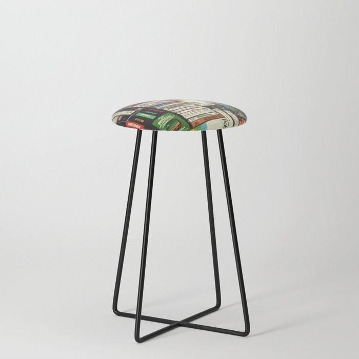 Cassettes, VHS & Games Counter Stool