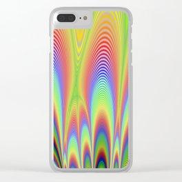 Fractal Rainbows Clear iPhone Case