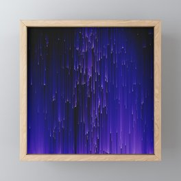 Meteor Shower Framed Mini Art Print